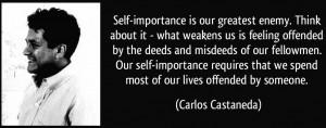 self-importance